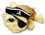 plyšová Želva Shelly pirát