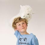 plyšová Alpaka maňásek na ruku