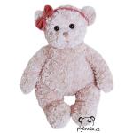 plyšák Medvídek Pola s červenou mašlí, plyšová hračka
