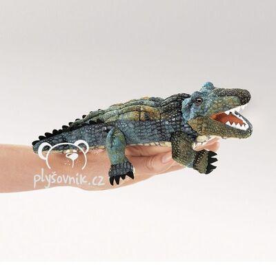 Plyšová hračka: Aligátor na prst maňásek | Folkmanis