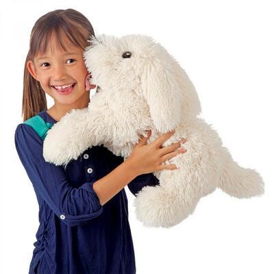 Plyšová hračka: Bilý chlupatý pes plyšový | Folkmanis
