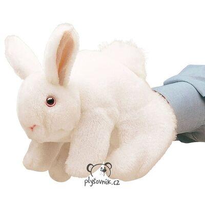 Plyšová hračka: Bílý králík maňásek plyšový | Folkmanis