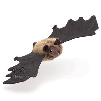 Plyšová hračka: Chundelatý netopýr na prst plyšák | Folkmanis