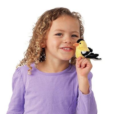 Plyšová hračka: Čížek žlutý na prst plyšový   Folkmanis