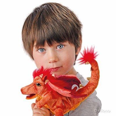 Plyšová hračka: Drak ohnivák plyšový | Folkmanis
