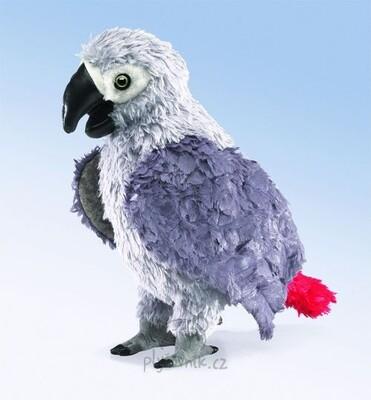 Plyšová hračka: Emil - papoušek Žako plyšový | Folkmanis