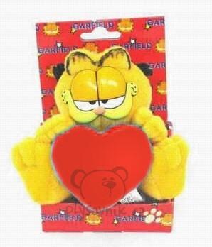 Plyšová hračka: Garfield v krabičce s červeným srdcem plyšový | Garfield