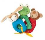 Hrkáček Barevka - medvěd - hrká, šustí, píská, plyšová hračka