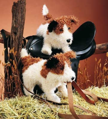 Plyšová hračka: Jack russell teriér plyšový | Folkmanis
