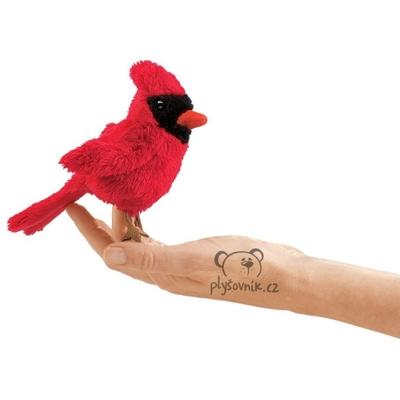 Plyšová hračka: Kardinál červený na prst plyšový | Folkmanis