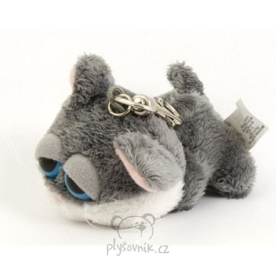Plyšová hračka: Klíčenka kočka šedá plyšová | Russ Berrie