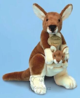 Plyšová hračka: Klokan s miminkem plyšový | Russ Berrie