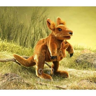Plyšová hračka: Klokan s miminkem plyšový | Folkmanis