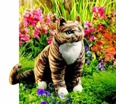 Plyšová hračka: Kočka Tabby plyšová | Folkmanis