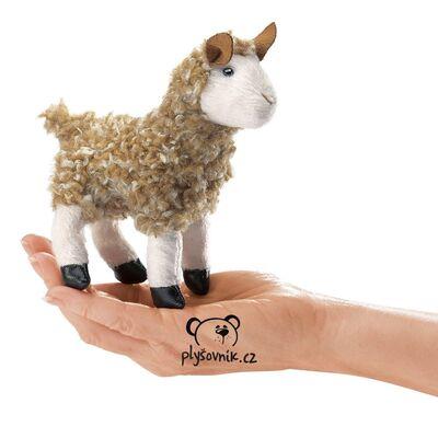 Plyšová hračka: Lama alpaka na prst plyšová | Folkmanis