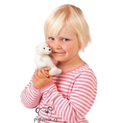 Plyšová hračka: Lední medvěd na prst plyšový | Folkmanis