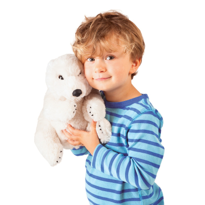 Plyšová hračka: Lední medvěd sedící plyšový | Folkmanis