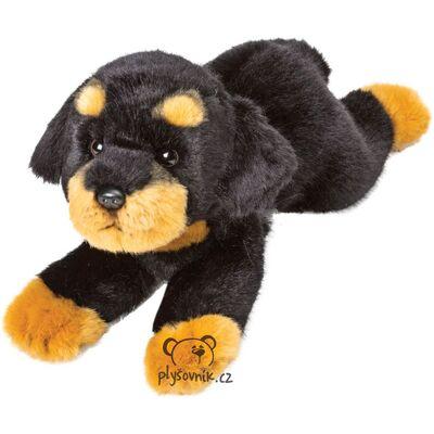 Plyšová hračka: Ležící Rottweiler Yomiko plyšový | Suki Gifts