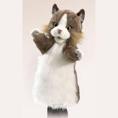 Plyšová hračka: Maňásek kočka plyšová | Folkmanis