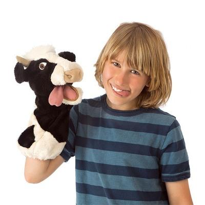 Plyšová hračka: Maňásek kráva plyšový   Folkmanis