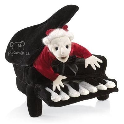 Plyšová hračka: Maňásek Mozart v klavíru maňásek | Folkmanis