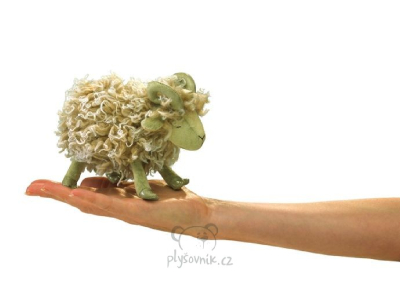 Plyšová hračka: Maňásek na prst beran plyšový | Folkmanis