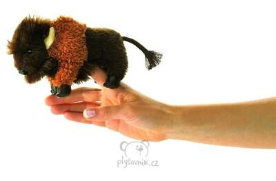 Plyšová hračka: Maňásek na prst bizon plyšový | Folkmanis
