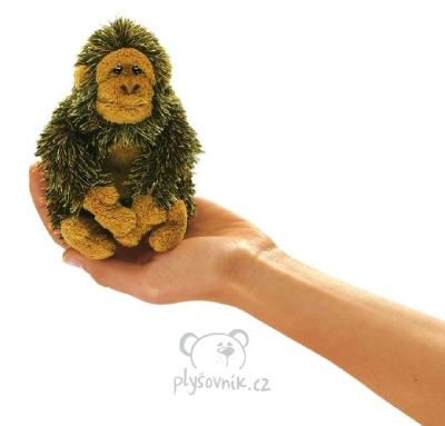 Plyšová hračka: Maňásek na prst gorila plyšová | Folkmanis