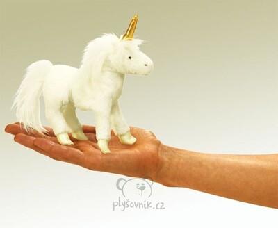 Plyšová hračka: Maňásek na prst jednorožec plyšový | Folkmanis