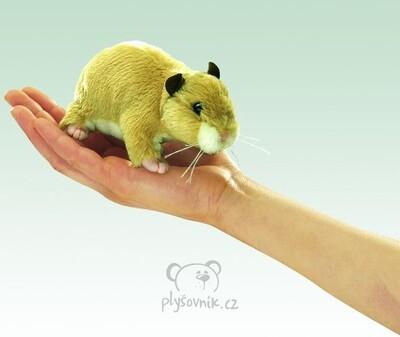 Plyšová hračka: Maňásek na prst křeček plyšový | Folkmanis