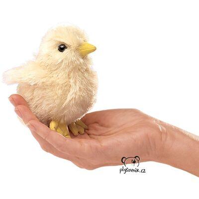 Plyšová hračka: Maňásek na prst kuřátko plyšové | Folkmanis