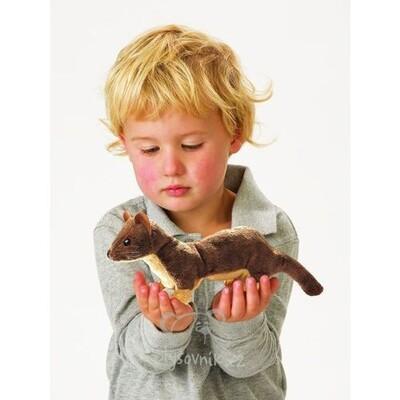 Plyšová hračka: Maňásek na prst lasička plyšová | Folkmanis