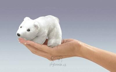 Plyšová hračka: Maňásek na prst lední medvěd 1+1 ZDARMA plyšový | Folkmanis