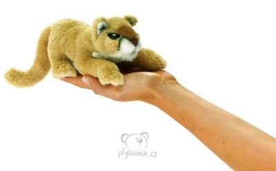 Plyšová hračka: Maňásek na prst puma plyšová | Folkmanis