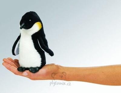 Plyšová hračka: Maňásek na prst tučňák 1+1 ZDARMA plyšový | Folkmanis