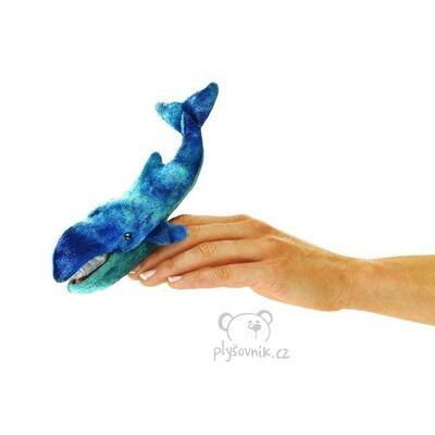 Plyšová hračka: Maňásek na prst velryba 1+1 ZDARMA plyšová | Folkmanis