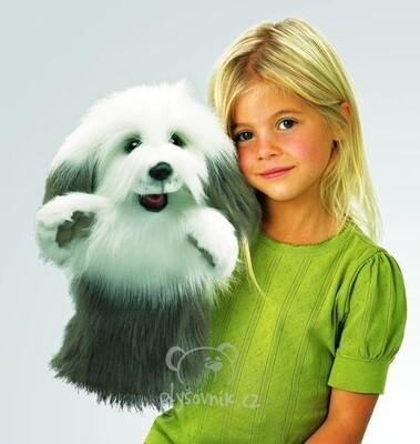 Plyšová hračka: Maňásek ovčácký pes plyšový | Folkmanis