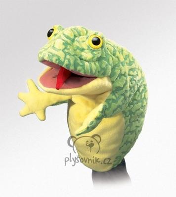 Plyšová hračka: Maňásek žába plyšová | Folkmanis