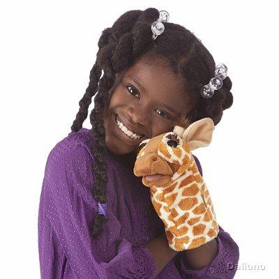 Plyšová hračka: Maňásek žirafa plyšový | Folkmanis