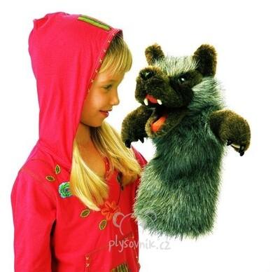 Plyšová hračka: Maňásek Zlý vlk plyšový | Folkmanis