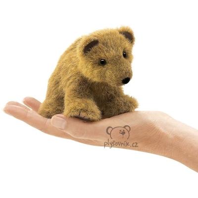 Plyšová hračka: Medvěd grizzly na prst plyšový   Folkmanis