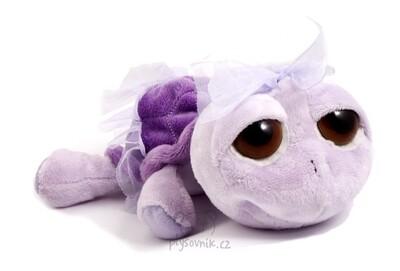 Plyšová hračka: Menší fialová želva Twirly plyšová | Russ Berrie
