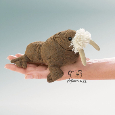 Plyšová hračka: Mrož na prst plyšový | Folkmanis