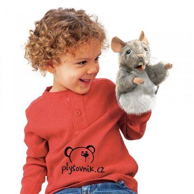 Plyšová hračka: Myška na ruku plyšová | Folkmanis