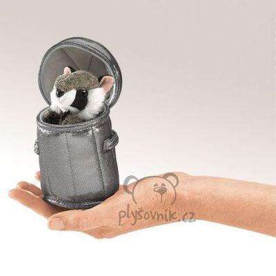 Plyšová hračka: Mýval v popelnici na prst plyšový | Folkmanis