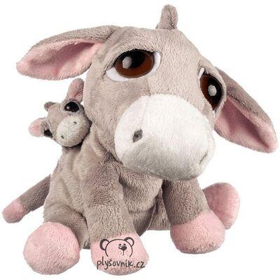 Plyšová hračka: Oslík Luna s miminkem plyšák | Suki Gifts
