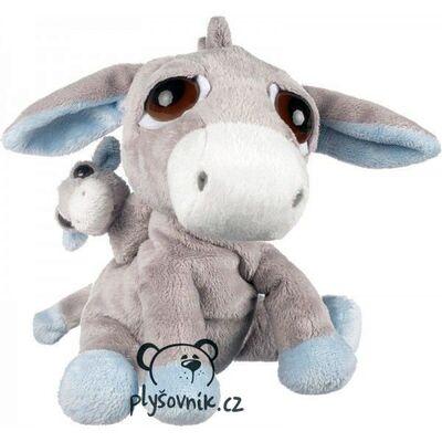 Plyšová hračka: Oslík Pablo s miminkem plyšový | Suki Gifts