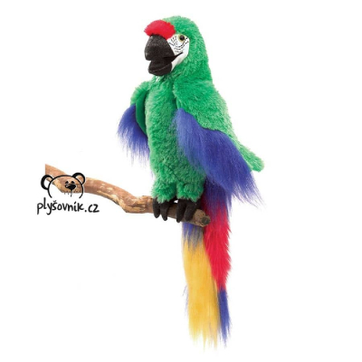 Plyšová hračka: Papoušek ara zelený plyšový | Folkmanis