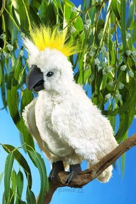 Plyšová hračka: Papoušek Kakadu plyšový | Folkmanis