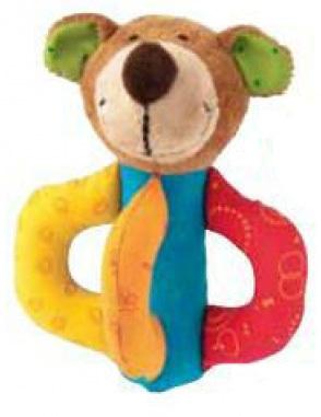 Plyšová hračka: Pejsek Barevka hrkáček    Russ Berrie